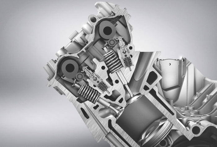 """The Chevy LS9 head has tall ports and a raised """"short side"""" radius just above the intake valve for improved airflow."""