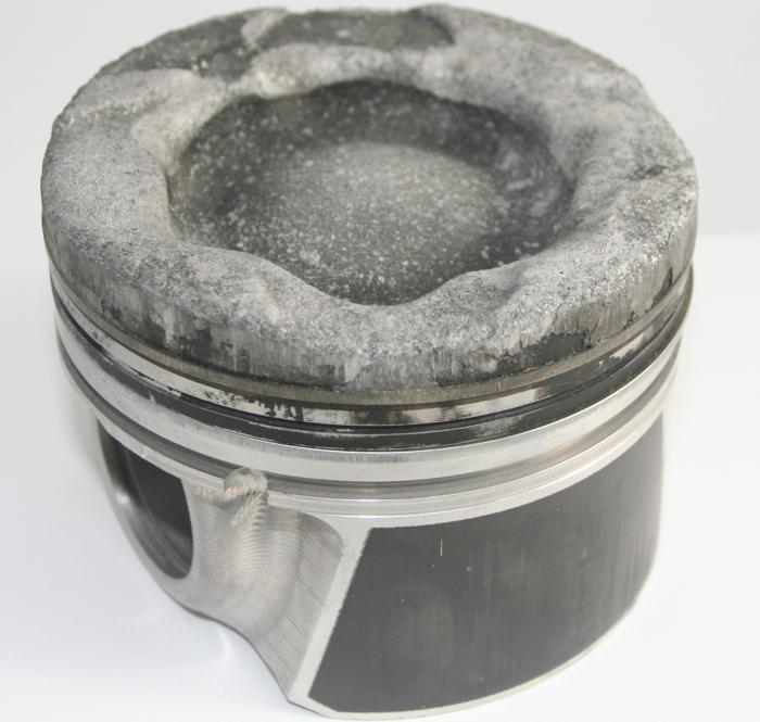 Forged piston total meltdown