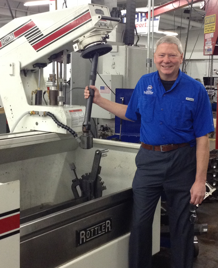 Paul Nelson leads the Auto Machining Technology Department at Northwest Technical College in Bemidji, MN.