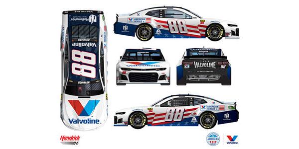 Alex Bowman Valvoline Paint Scheme In Nascar Race At Daytona