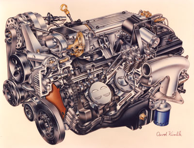 the chevrolet lt1 5 7l v8 engine that was produced from 1992 to 1997 has  some significant differences compared to the previous small block chevy it  replaced